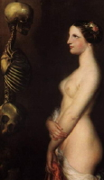 skeleton naked women marquis de sade
